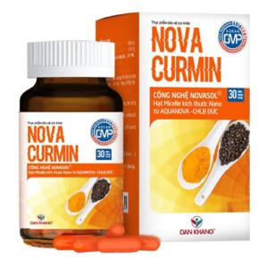 Sản phẩm novacurmin chữa trị viêm loét dạ dày hiệu quả