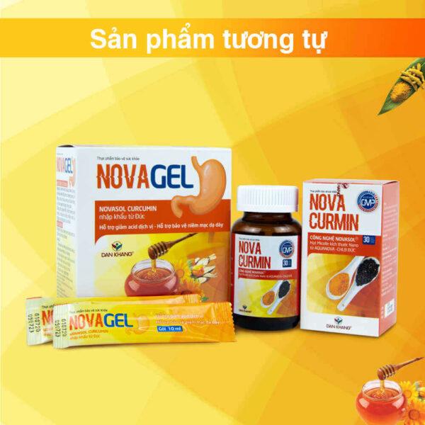 Novagel sử dụng kết hợp với Novacurmin để đạt hiệu quả cao