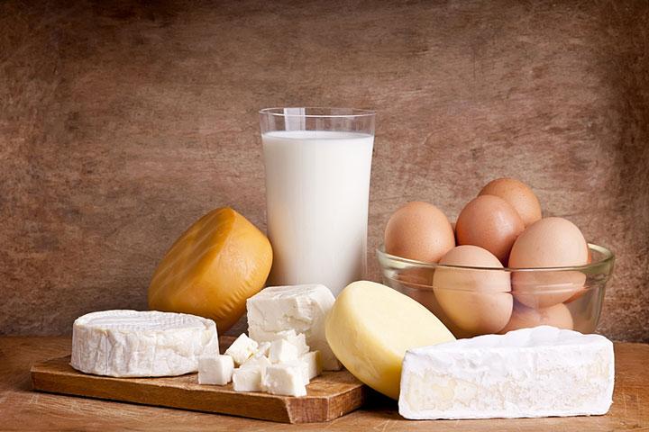 Trứng, sữa, pho mai ít béo