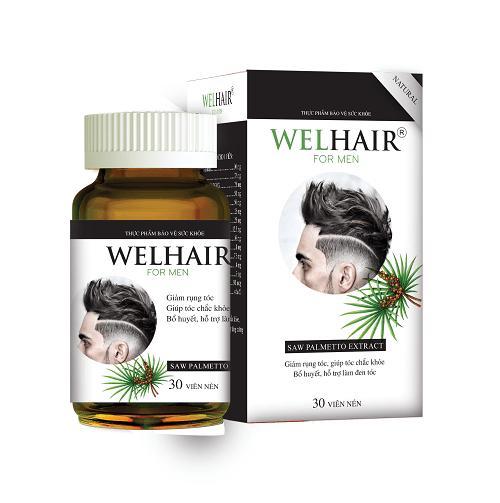 Welhair for men là một sản phẩm giúp giảm rụng tóc hiệu quả