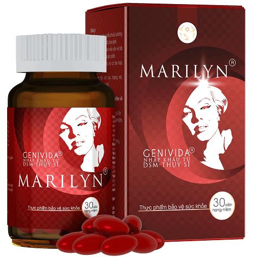 Viên uống Marilyn giúp điều hòa kinh nguyệt do rối loạn nội tiết tố gây ra