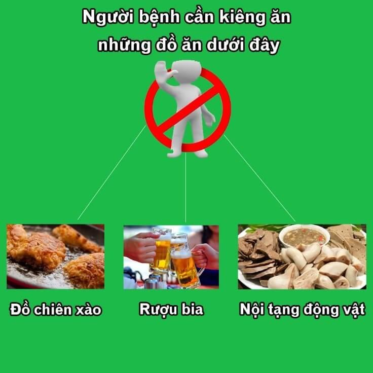 Người bệnh nên kiêng những loại đồ ăn gì