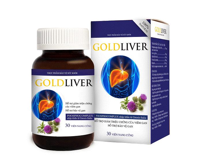 Viên uống GoldLiver giúp bảo vệ gan và tăng cường chức năng gan