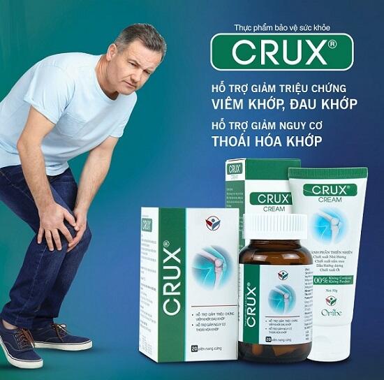 Sản phẩm Crux giúp giảm đau và tái tạo sụn khớp