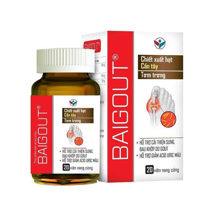 Sản phẩm Baigout giúp giảm acid uric và các cơn đau hiệu quả