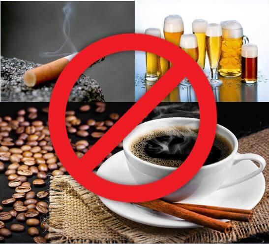 Hạn chế sử dụng bia rượu và chất kích thích