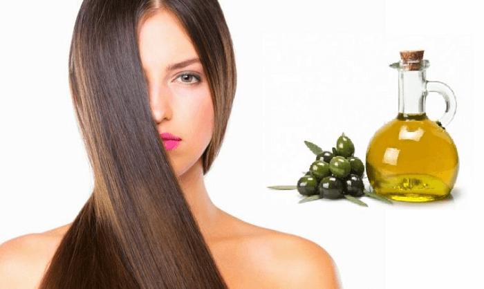 Dưỡng tóc bằng dầu oliu giúp tóc suôn mượt, vào nếp dễ dàng
