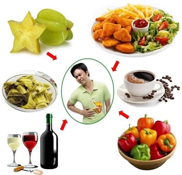 Một số thức ăn nên tránh khi bị trào ngược dạ dày