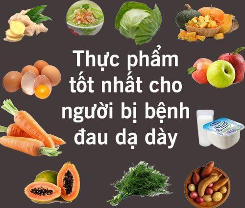 Những loại thực phẩm tốt cho người bệnh đau dạ dày