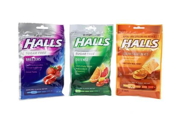 Kẹo ngậm Hall giảm đau rát cổ họng tốt
