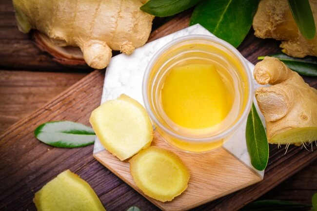 Trà gừng có công dụng giảm viêm kháng khuẩn tốt