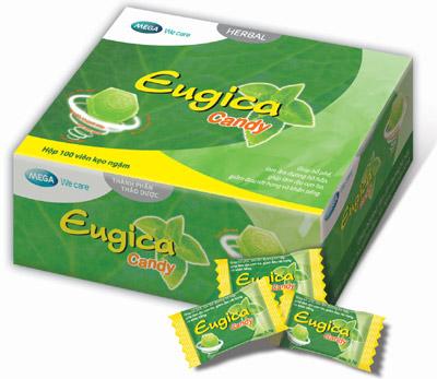 Viên ngâm Eugica được bào chế dạng viên ngậm, dễ sử dụng