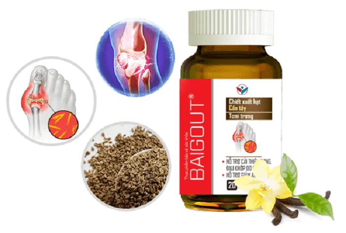 Viên uống Baigout – sự kết hợp hoàn hảo từ 3 dược liệu có công dụng mạnh nhất với bệnh gout