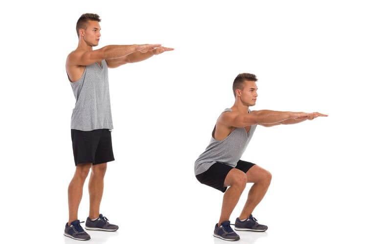 Squat là bài tập đơn giản và dễ thực hiện