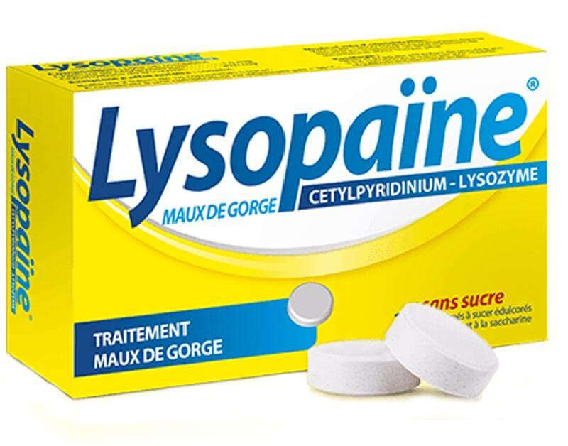 Viên ngậm Lysopaine giúp sát khuẩn, giảm ho