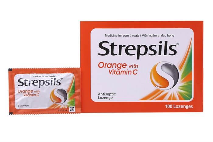 Sử dụng viên ngậm Strepsils giúp giảm các triệu chứng do viêm họng