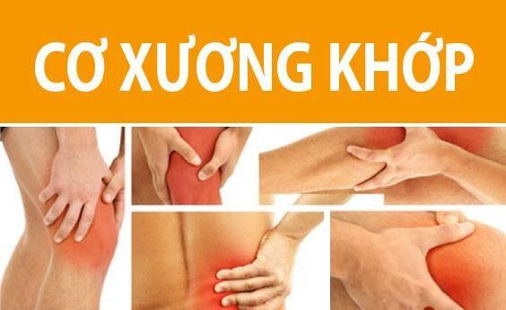 Bệnh cơ xương khớp xảy ra ở nhiều vị trí trên cơ thể