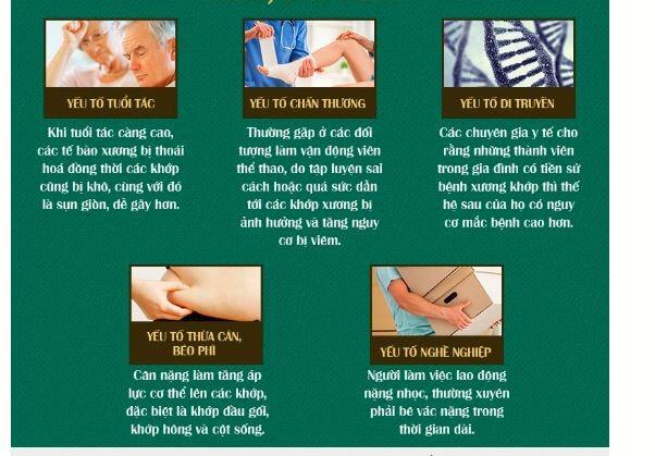 Các nguyên nhân gây ra bệnh cơ xương khớp