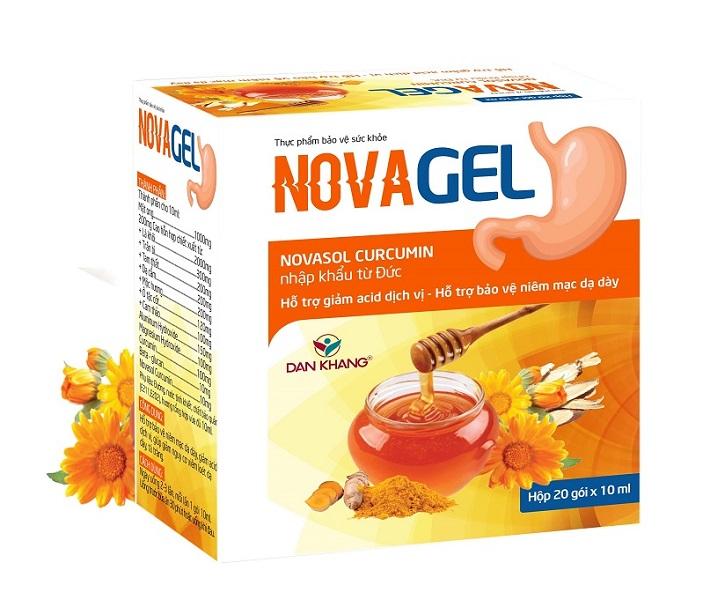 Sản phẩm Novagel hỗ trợ giảm đau thượng vị dạ dày và tình trạng trào ngược dạ dày hiệu quả
