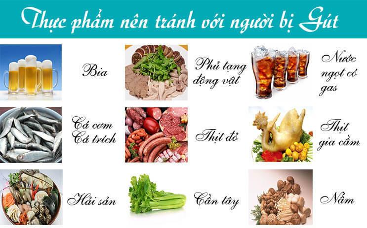Những loại thực phẩm cho người mắc bệnh gout nên kiêng