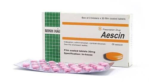 Thuốc trị bệnh trĩ Aescin