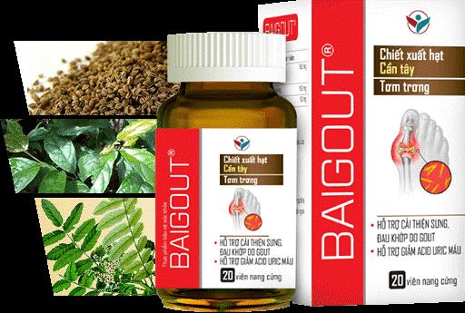 Viên uống Baigout giúp hỗ trợ giảm đau cho người bị gout và làm giảm acid uric hiệu quả