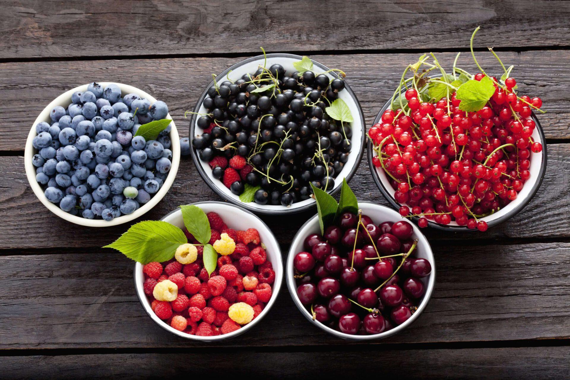 Quả mọng có nhiều khoáng chất và vitamin giúp tiêu viêm