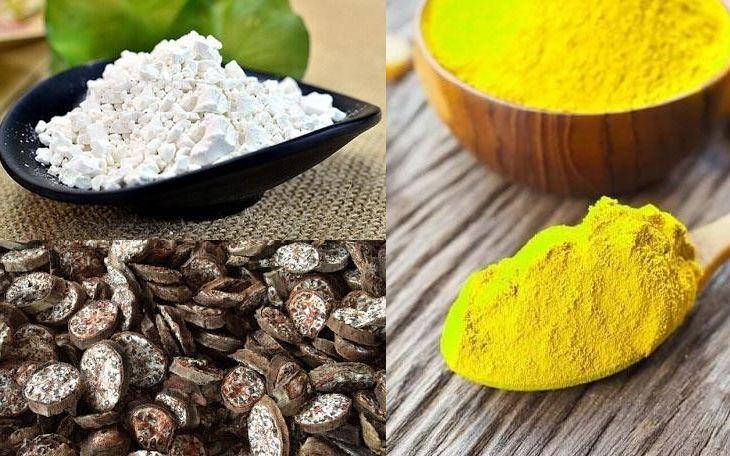 Kết hợp bột nghệ, chuối hột và sắn dây hòa chung với mật ong và nước trước khi uống