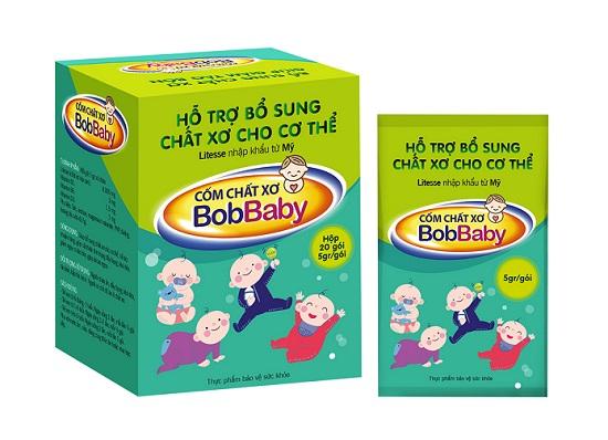 Sản phẩm cốm chất xơ BobBaby giúp bổ sung dưỡng chất tốt cho hệ tiêu hóa của trẻ