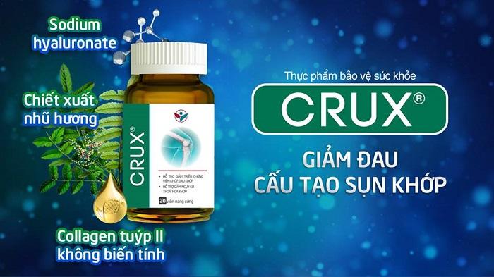 Sản phẩm Crux giúp giảm đau nhức xương khớp