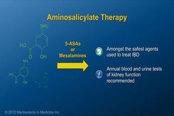 5-ASA là lựa chọn đầu tay trong viêm đại tràng từ mức độ nhẹ-trung bình