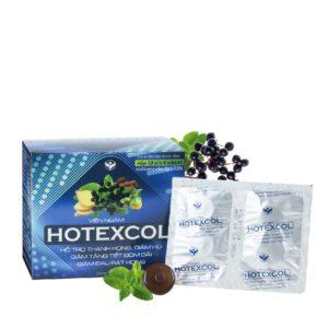 Viên ngậm Hotexcol với các thành phần từ thiên nhiên giúp giảm đau rát cổ họng hiệu quả