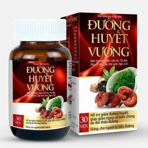 Sản phẩm Đường Huyết Vương với thành phần từ thiên nhiên tốt cho người bị tiểu đường